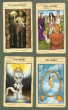 Collectible Fortune telling playing cards. Mythic Tarot by Rider